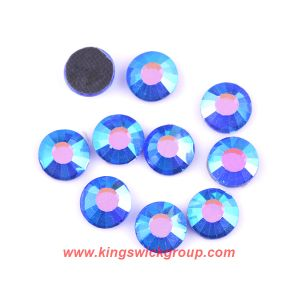 Ss8 Sapphire Ab Gray Glue Crystal Stones DMC Hot Fix Strass Iron on Stones pictures & photos