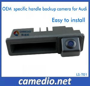 High Resolution Rear View Camera Tail Gate Handle Camera for Audi pictures & photos