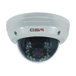 White and Black Vandalproof Dome Camera-DVI20b