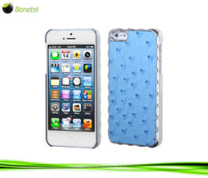 Luxury Ostrich Skin Pattern Top Case for iPhone 5 (Blue)