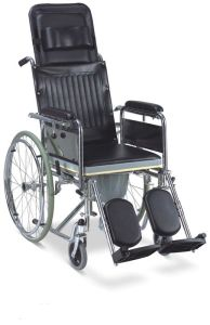 Steel Reclining High Back Commode Wheelchair (SC-CW14(S)) pictures & photos