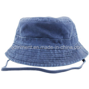 Washed Adjustable Neck Strap Sports Fisherman Bucket Hat (CSCBH9421) pictures & photos