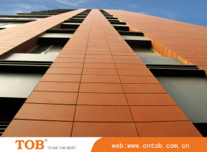 Terracotta Tiles with 18mm Thickness, Suitable for Terracotta Facade System