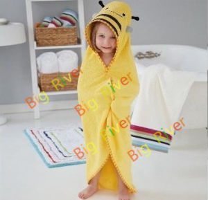 100% Cotton Animal Pattern Bathrobe for Children