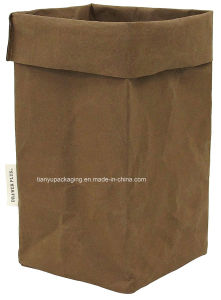 Christmas Decoration Washable Kraft Paper Bag Grocery Storage Basket Stationary pictures & photos