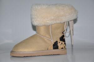Lady′s Sheepskin Winter Snow Fashion Boot
