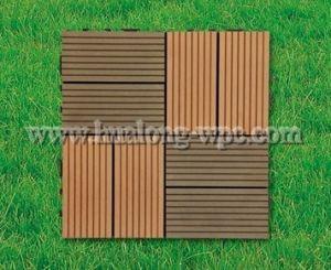 Anti-UV Wood Plastic Composite DIY Tilewpc Decking (DIY2) pictures & photos