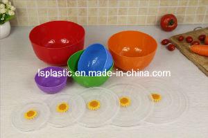 Set 5 PCS Colorful Plastic Bowls with Lids (LS-1001-2)