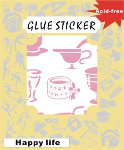 DIY Double-Side Motif Sticker for Card Decoration GS173