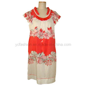 Ladies Cotton Printed Dress