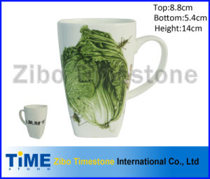 Square Super White Porcelain Coffee Mug pictures & photos