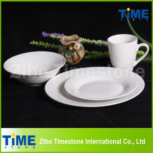 Round Super White Porcelain Dinner Set pictures & photos