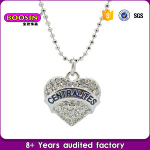 Custom Silver Pave Crystal Heart Pendant Necklace, Mom Heart Necklace pictures & photos