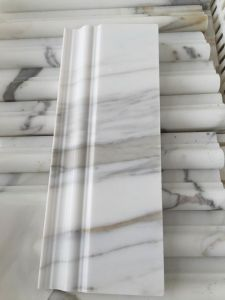 Natural White Calacatta Gold Skirting Baseboard Decorative Mouldings pictures & photos