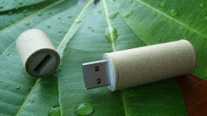 Cylindrical Paper USB Flash Drive