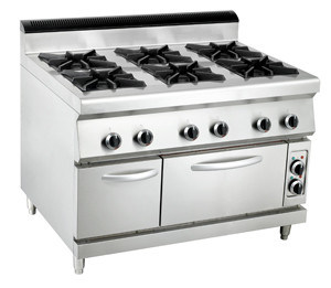 Commercial 6-Burner Gas Range with Electric Oven pictures & photos