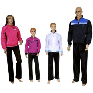 Hot Sell Sport Polyester Tricot Tracksuit (TZ11133) pictures & photos