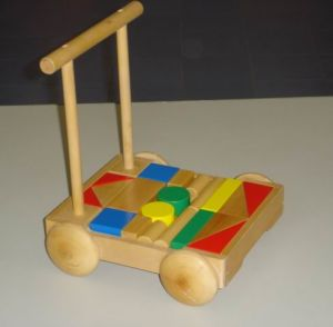 Wooden Toys - Shape Block-Pushcart (ZYYB-0181)