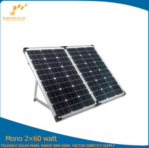 Portable Monocrystalline Folding Solar Panel 120W for Camping pictures & photos