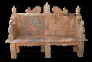 Marble Carving Garden Bench (BNH311) pictures & photos