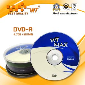 Recordable Blank DVD Discs 16x 4.7GB120min (WT blank DVD-R 16X 005)
