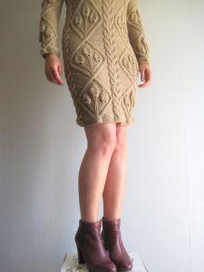 Handmade Hand Knit Women Ladies Warm Wool Evening Winter Dress pictures & photos