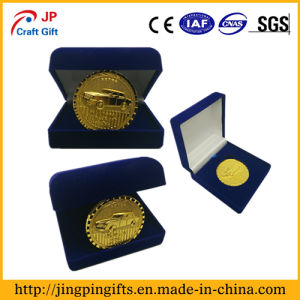 Custom Embossed Car Logo Souvenir Metal Coin with Packing Box pictures & photos