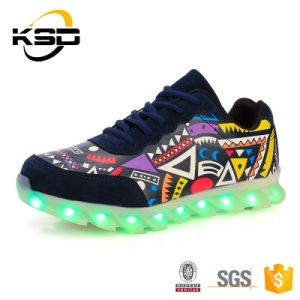 Luminous USB Charging LED Shoes for Men and Women pictures & photos