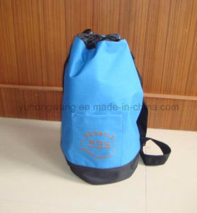 Advertisement Polyester Round Duffer Drawstring Bag