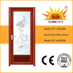 Low Price Toilet Aluminum Doors with Shutter Window (SC-AAD028) pictures & photos