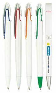 Unique Clip Advertisement Plastic Logo Ball Pen Tc-6027 pictures & photos