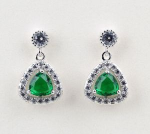 CZ Cubic Zirconia Diamond Zircon Silver Earrings Fashion Jewelry pictures & photos