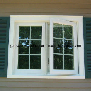 UPVC Casement Window with Grills (TS-118) pictures & photos