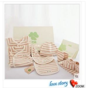 Organic Cotton Brand Custom Gift Box Suits 8PCS for Infants & Toddlers pictures & photos