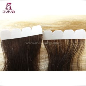 Full Cuticle Virgin Remy Seamless Skin Weft Tape in Human Hair Extension pictures & photos