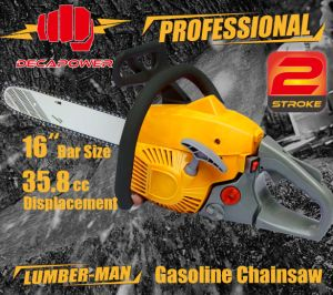 CE Certified Garden Tools 35.8cc Professional Gasoline Chainsaw (CS-3600)