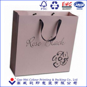 Custom White Kraft Paper Bag, Luxury Paper Shopping Bag pictures & photos