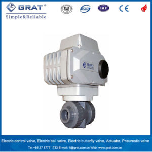 UPVC Chemical Resistant Electric Ball Valve pictures & photos