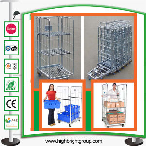 3 Panel Heavy Duty Foldable Logistic Roll Container pictures & photos