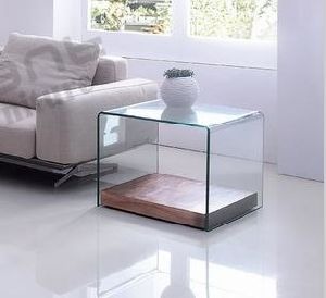 Clear Bent Glass Side Table with MDF Bottom pictures & photos