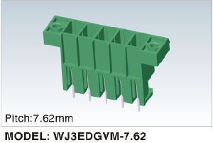 Wanjie Male Plug-in Terminal Block Can Be Fixed (WJ3EDGVM-7.62) pictures & photos