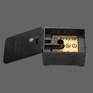 Waterproof 100A 1 Ploe Electrical Link Box Black