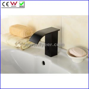 Fyeer Orb Black Cold Only Automatic Waterfall Sensor Tap (QH0128BR) pictures & photos