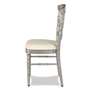 White Aluminum Fixed Cushion Napoleon Chair pictures & photos