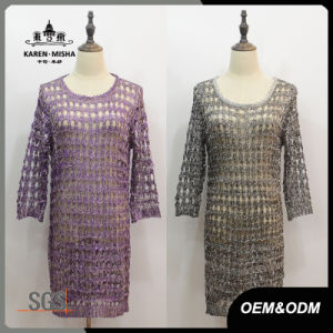 Women Basic Lace Callor Dress pictures & photos