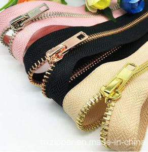 Wholesale Luggage Long Chain 5# Golden Brass Zipper for Bag