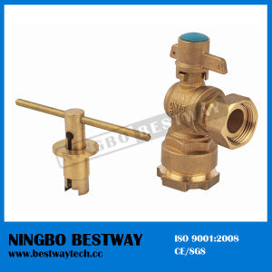 Forged Brass Angle Lockable Ball Valve (BW-L02) pictures & photos