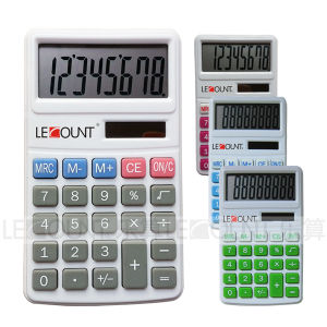 8 Digits Dual Power Pocket Calculator with Large LCD Screen and Rubber Keys (LC303-8D) pictures & photos