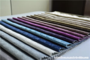 Woven Decorate Pure Polyester Jacquard Velour Sofa Fabric pictures & photos
