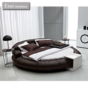The Modern Round Bed Of Bedroom Furniture In Genuine Leather (A 15#) Part 89